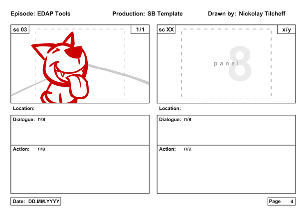 the edap tools storyboard template