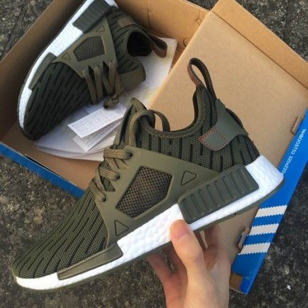 Great Quality Adidas NMD XR1 Men's Olive Green White Shoes Sale