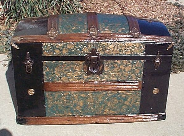 Expert Photographic History And Examples Of Antique Steamer Trunks Antique Trunks Restoration And Military Antique Trunk Antique Steamer Trunk Trunk Makeover