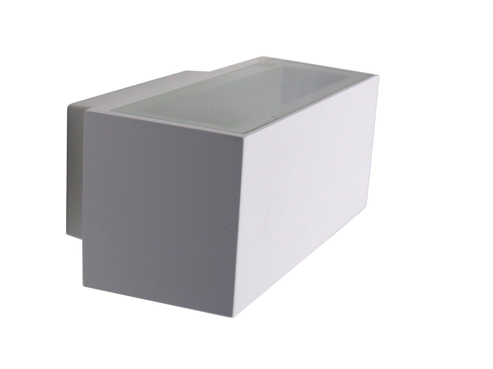Lampada da parete rettangolare da esterno in alluminio verniciato