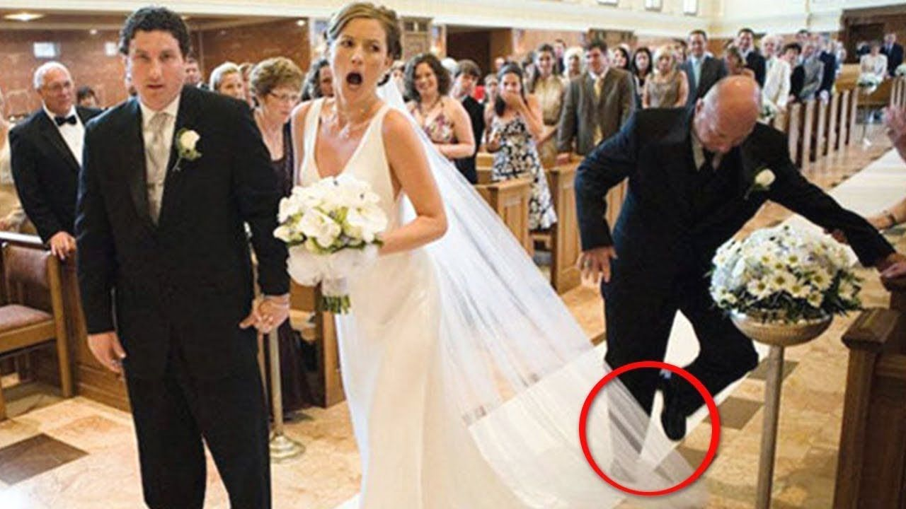 Funny Wedding Fails Compilation Funny People Doing Funny Things Wedding Fail Wedding Humor Wedding Preparation