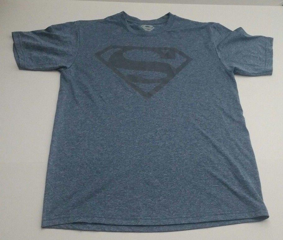 e319ca19821665 Details about DC Comics Men s Superman Blue Gray Logo Shield T Shirt ...