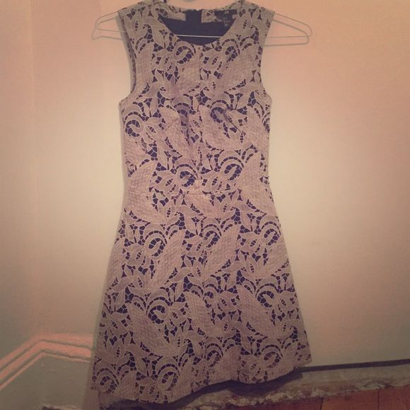 H&M black and gray lacy sleeveless mini dress Great condition size 2 (fits like US size 0) h&m short sleeveless dress. Zipper in back. Lined. Looks great with belt! H&M Dresses Mini
