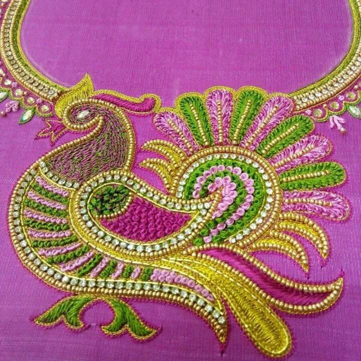 Hand Embroidery Designs Aari Work | Ausbeta.com