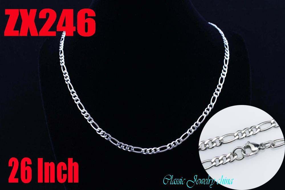 100 метров 4 мм плетение фигаро 304 нержавеющая сталь ожерелье 3:1 нк женщины свитер цепь ювелирные изделия ZX246