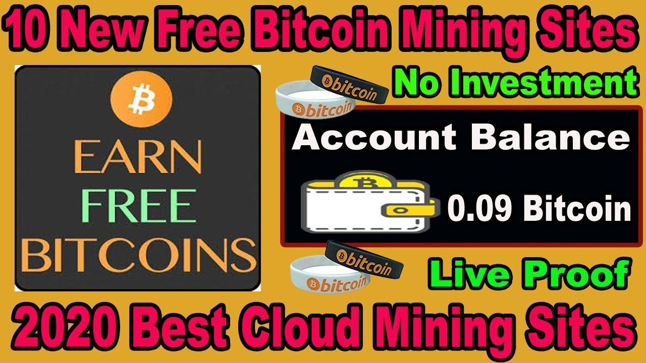 New Bitcoin Mining Website 2020   Earn 0.09 BTC Daily Without Investment   Free 10 mining sites 2020