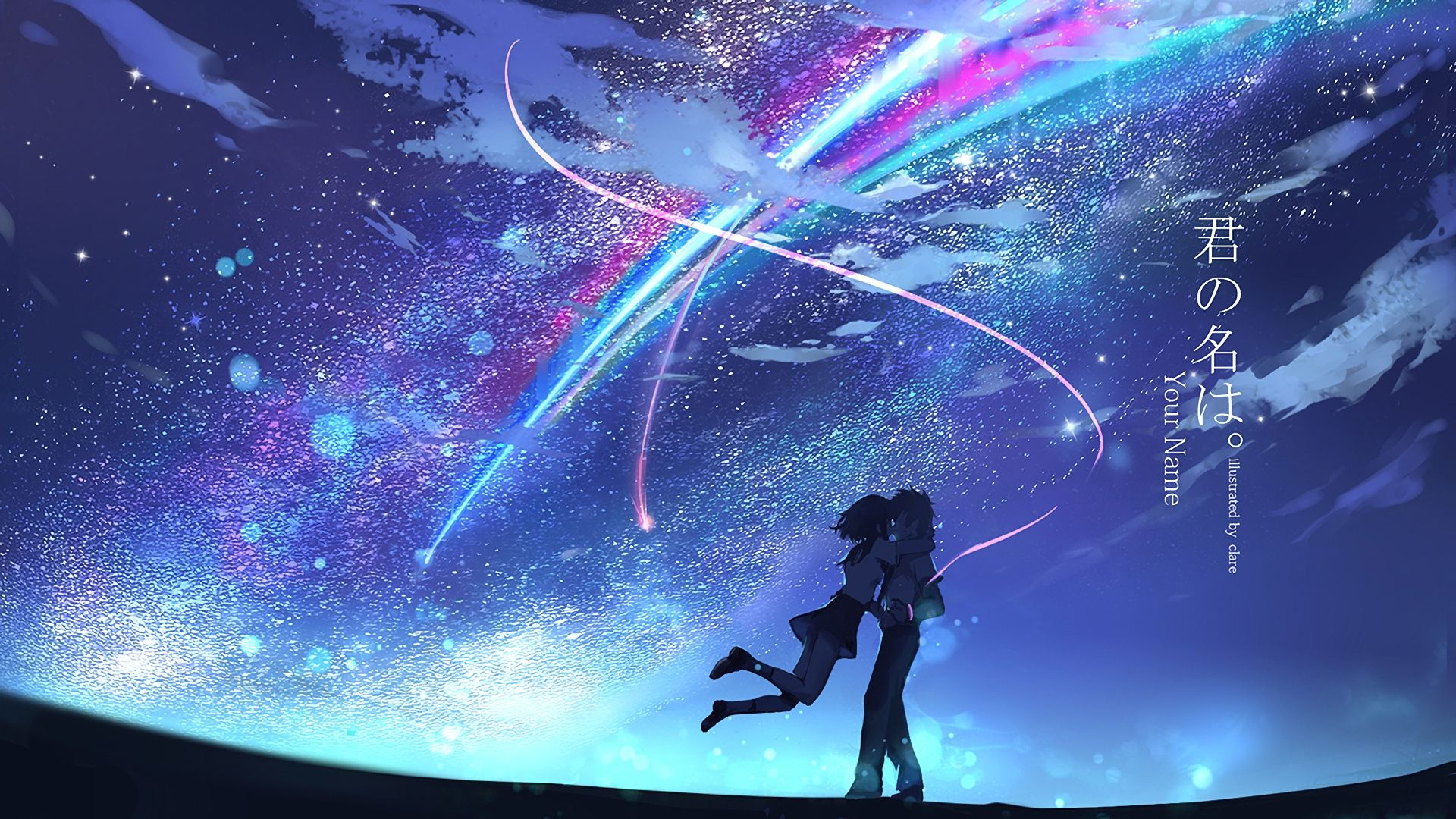10 Best Kimi No Na Wa Desktop Wallpaper Full Hd 1920 1080 For Pc Desktop Latar Belakang Gambar Anime Pemandangan Anime