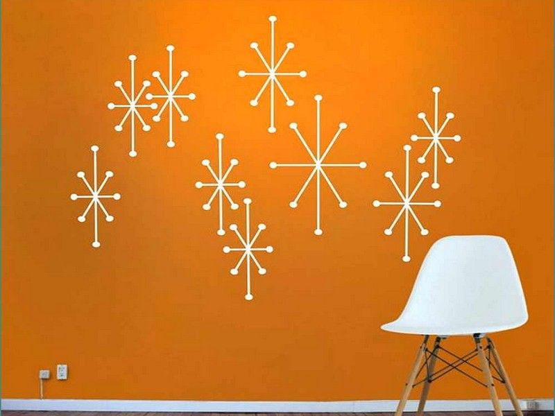Mid Century Modern Desktop Wallpaper Home Design Ideas Modern Wall Decals Mid Century Modern Walls Vinyl Wall Decals