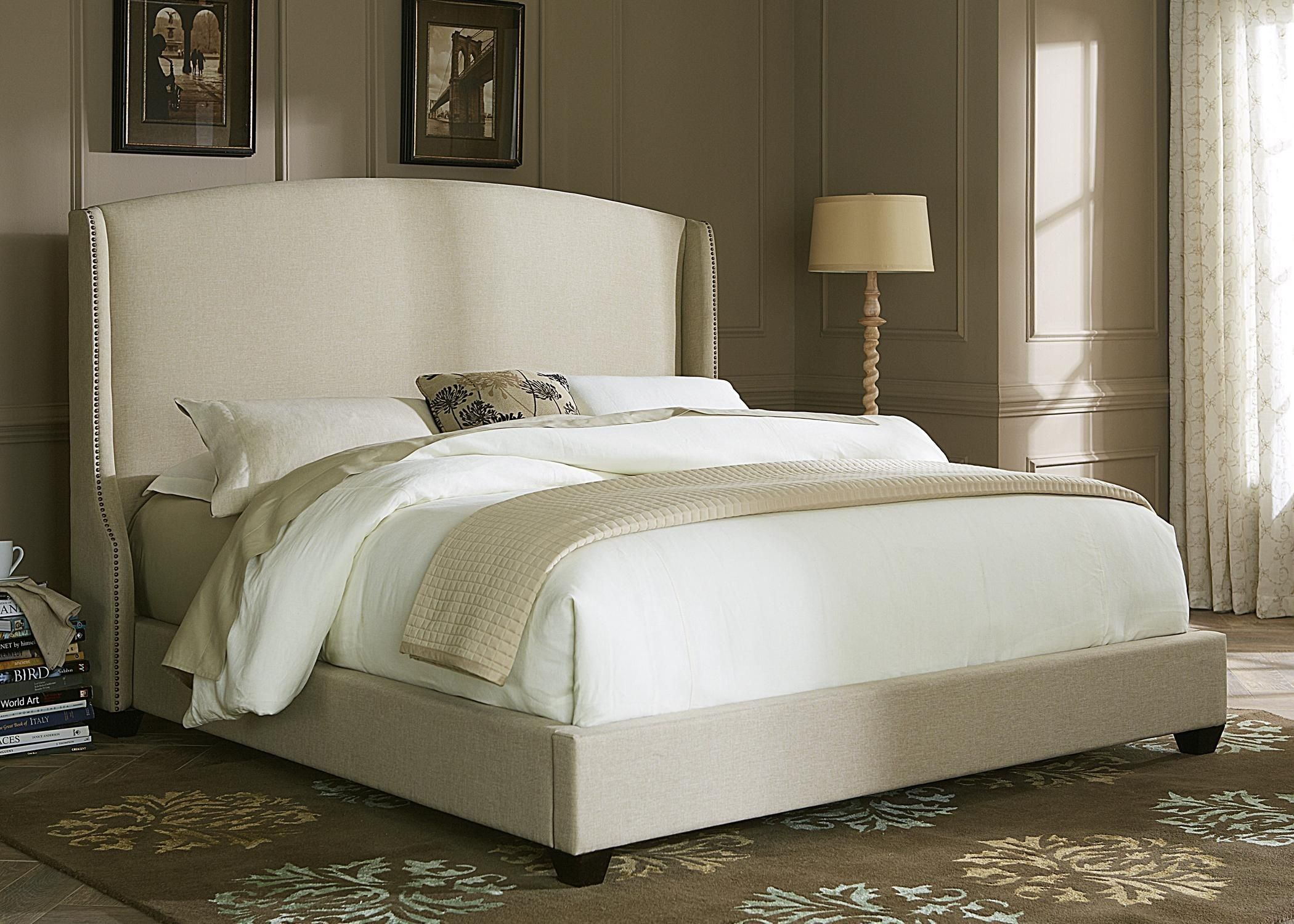 Beautiful Upholstered Bed Frame and Headboard Liberty
