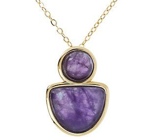 Give them something to talk about when you walk out the door wearing this eye-catching gemstone pendant. From Gem Gossip.