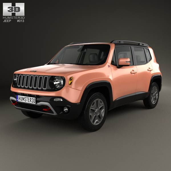 3d Model Of Jeep Renegade Trailhawk 2015 Jeep Renegade Trailhawk