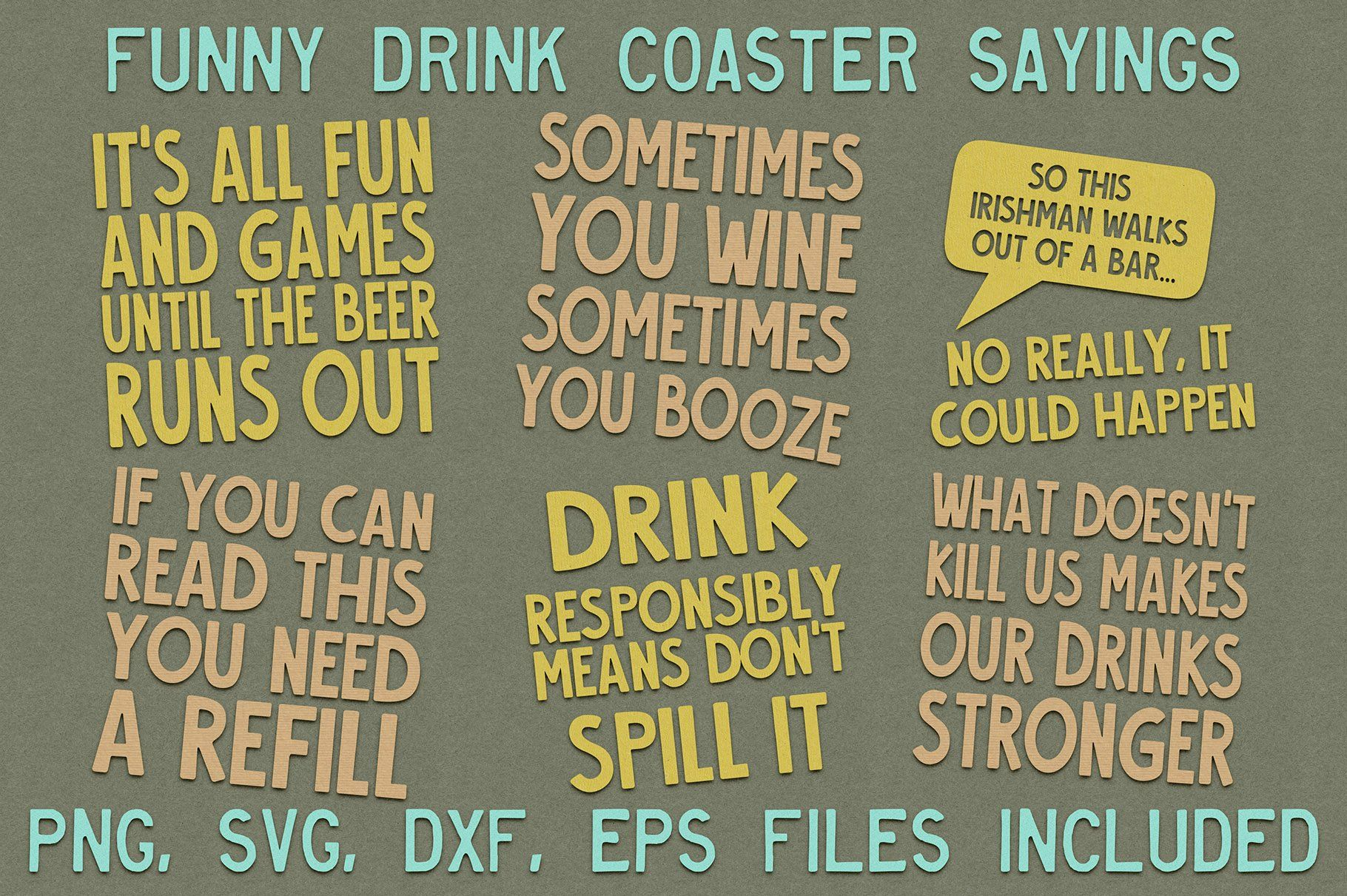 Funny Drink Coaster Svg Sayings Drink Coasters Funny Coasters Coasters