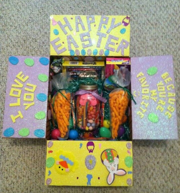 Easter gift ideas easter care package easter pinterest easter easter gift ideas easter care package negle Image collections
