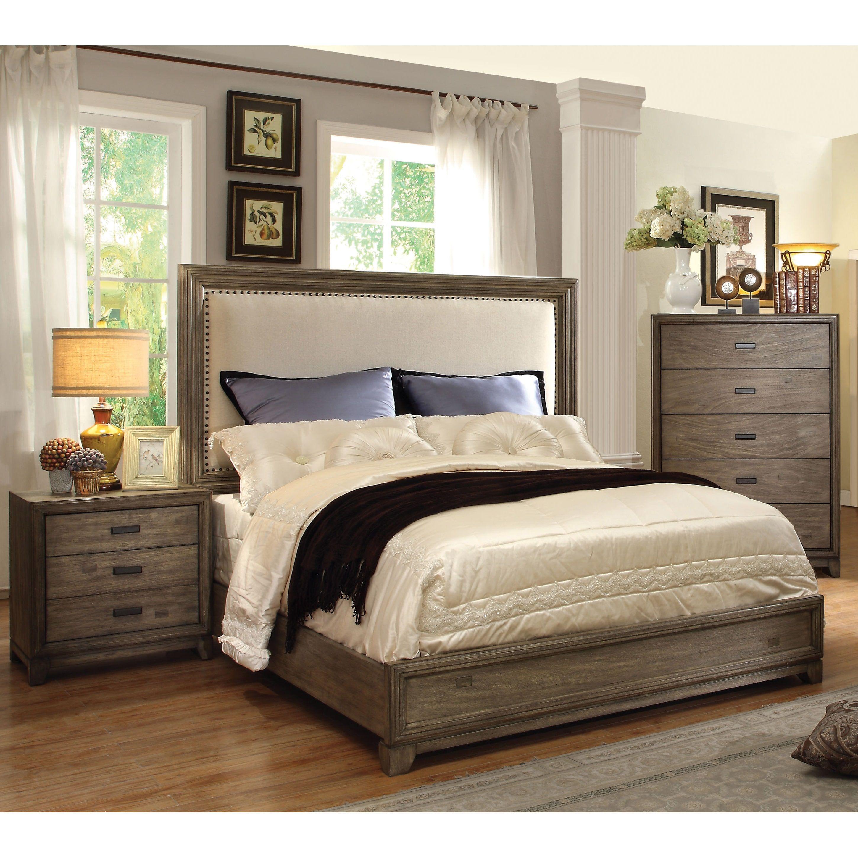 Rustic Grey King Bedroom Set