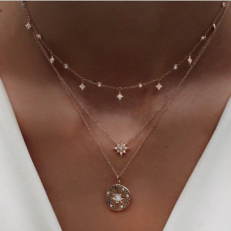 official photos 652aa 2f852 14kt gold and rose cut raw diamond starburst necklace – Luna Skye