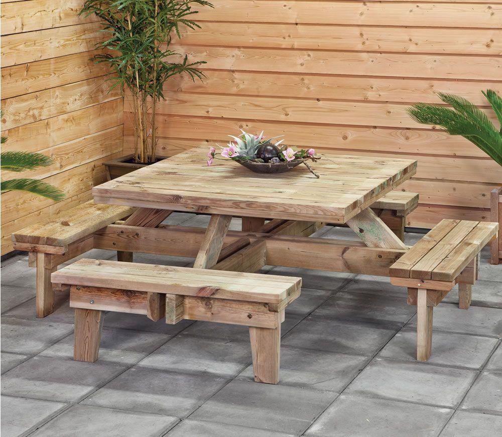picnic table square gardening that i love picnic table table rh pinterest com