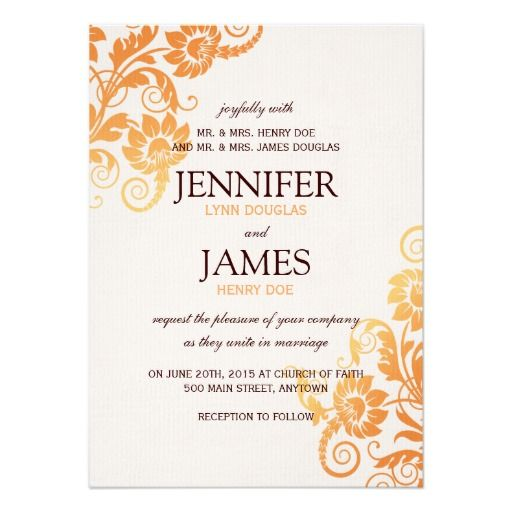 """Pretty Customizable Fall Wedding Invitations with a beautiful Floral print. Collection created by Colourful Designs Inc. Copyright 2013.   <div style=""""text-align:center;line-height:150%""""> <a href=""""http://www.zazzle.com/fall_rsvp_cards-161215141688586984?rf=238640686067985882""""> <img src=""""http://rlv.zcache.com/fall_rsvp_cards-r2c43a6a9aa974420b59f7095d166c4a4_wpt8z_8byvr_325.jpg"""" alt=""""Fall RSVP Cards"""" style=""""border:0;"""" /> </a> <br /> <a ..."""