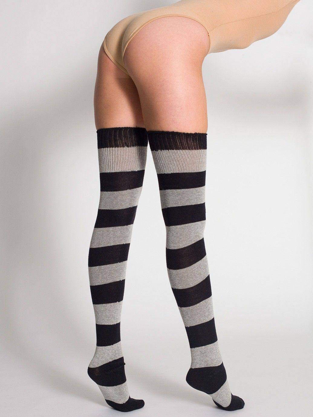 6e7aad3ffc7 Wide Stripe Thigh-High