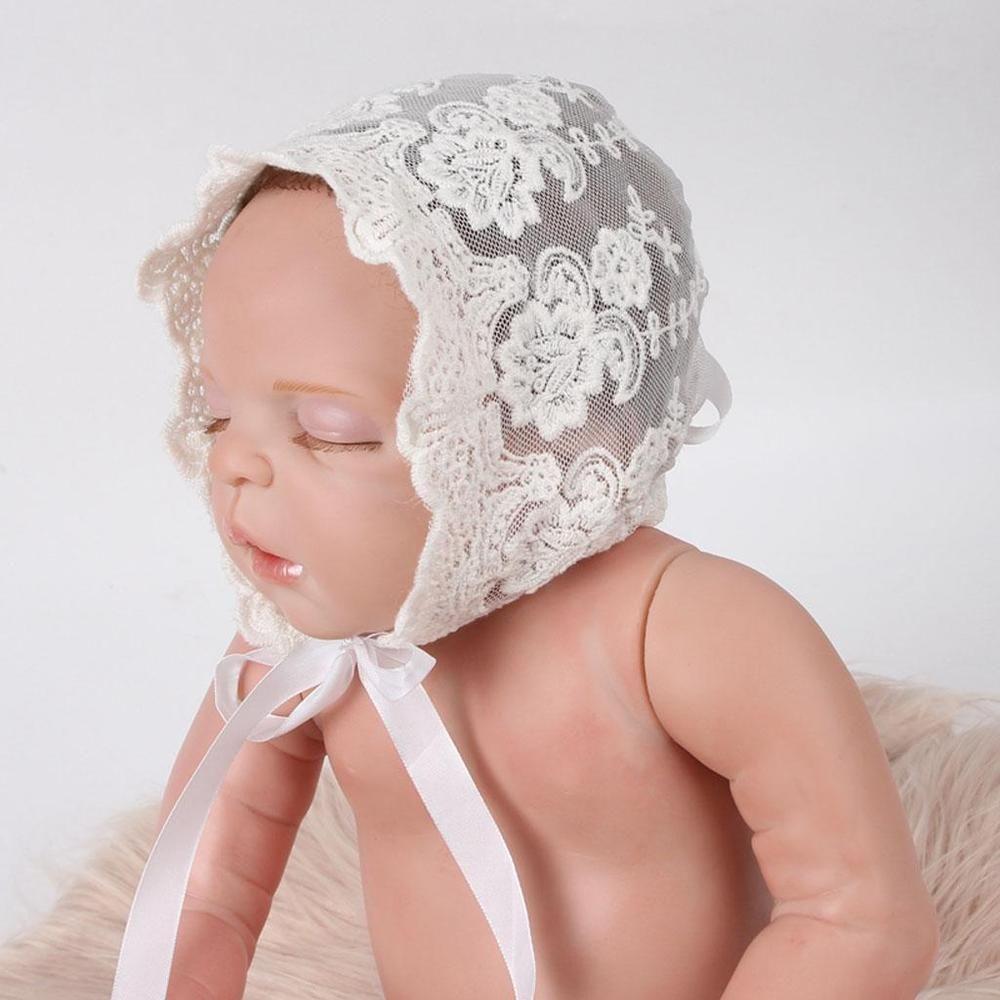 Newborn Baby Girls Lace Floral Cap Beanie Bonnet Hats Photo Prop  Photography  92518d9a8940