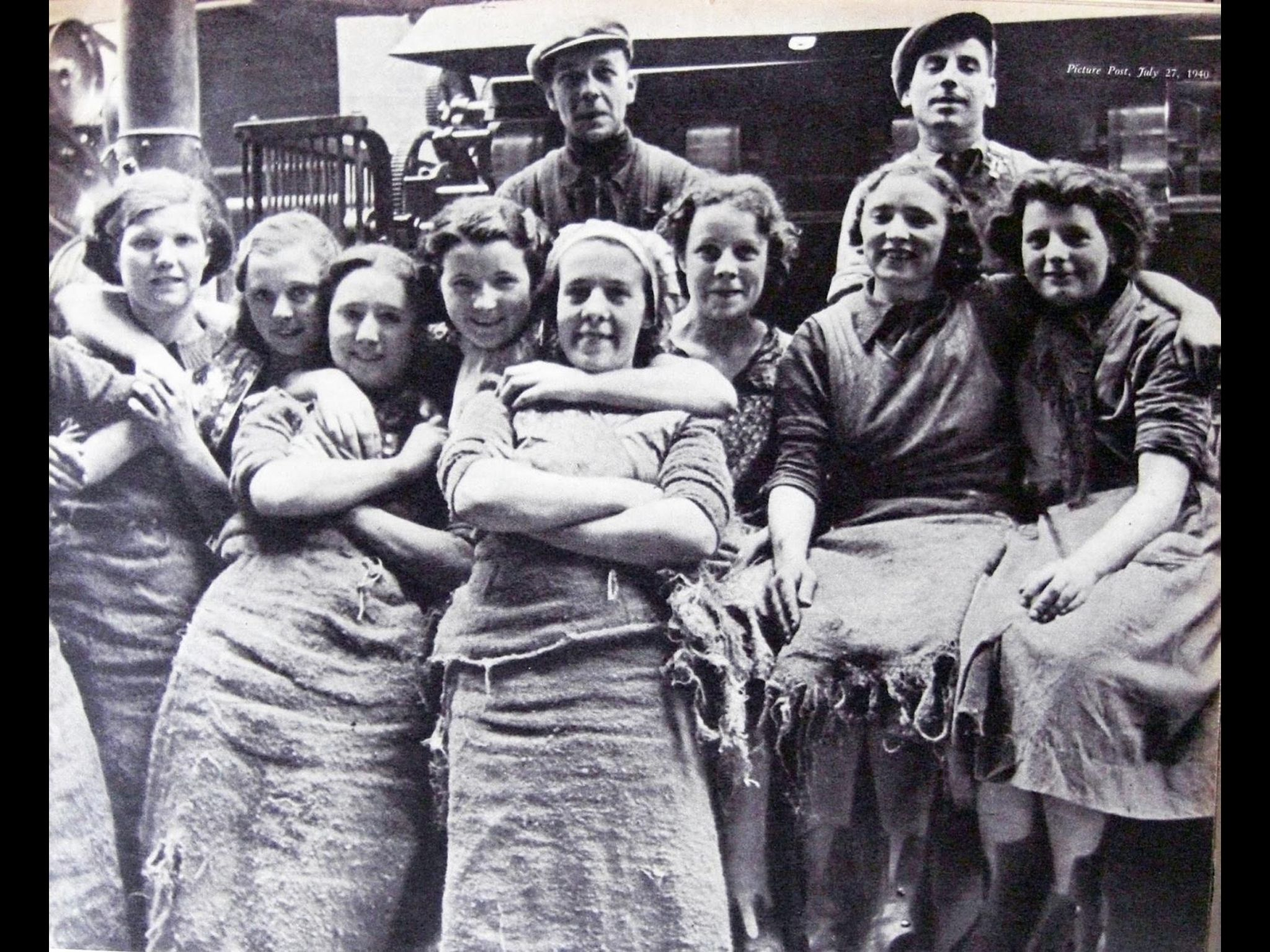 Workers from the York Street Mill Belfast 1941 | Belfast | Belfast