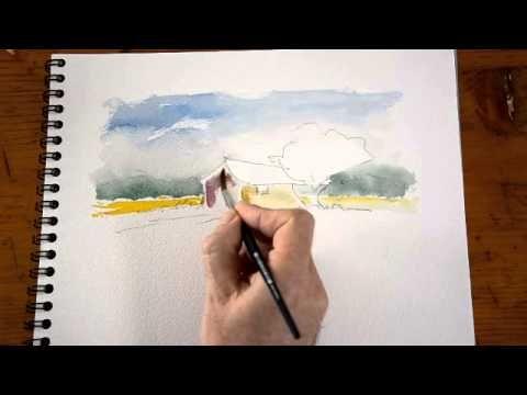 Aquarelle Peindre Un Cabanon De Provence 1 2 Watercolor