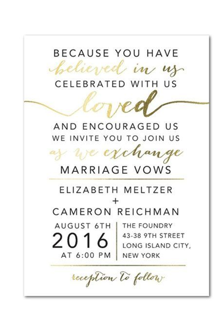 A gold foil stamped wedding invitation by weddingpaper brides a gold foil stamped wedding invitation by weddingpaper brides stopboris Gallery