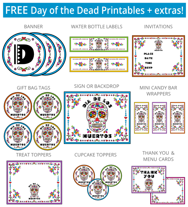 Free Day Of The Dead Printables And Trailer For