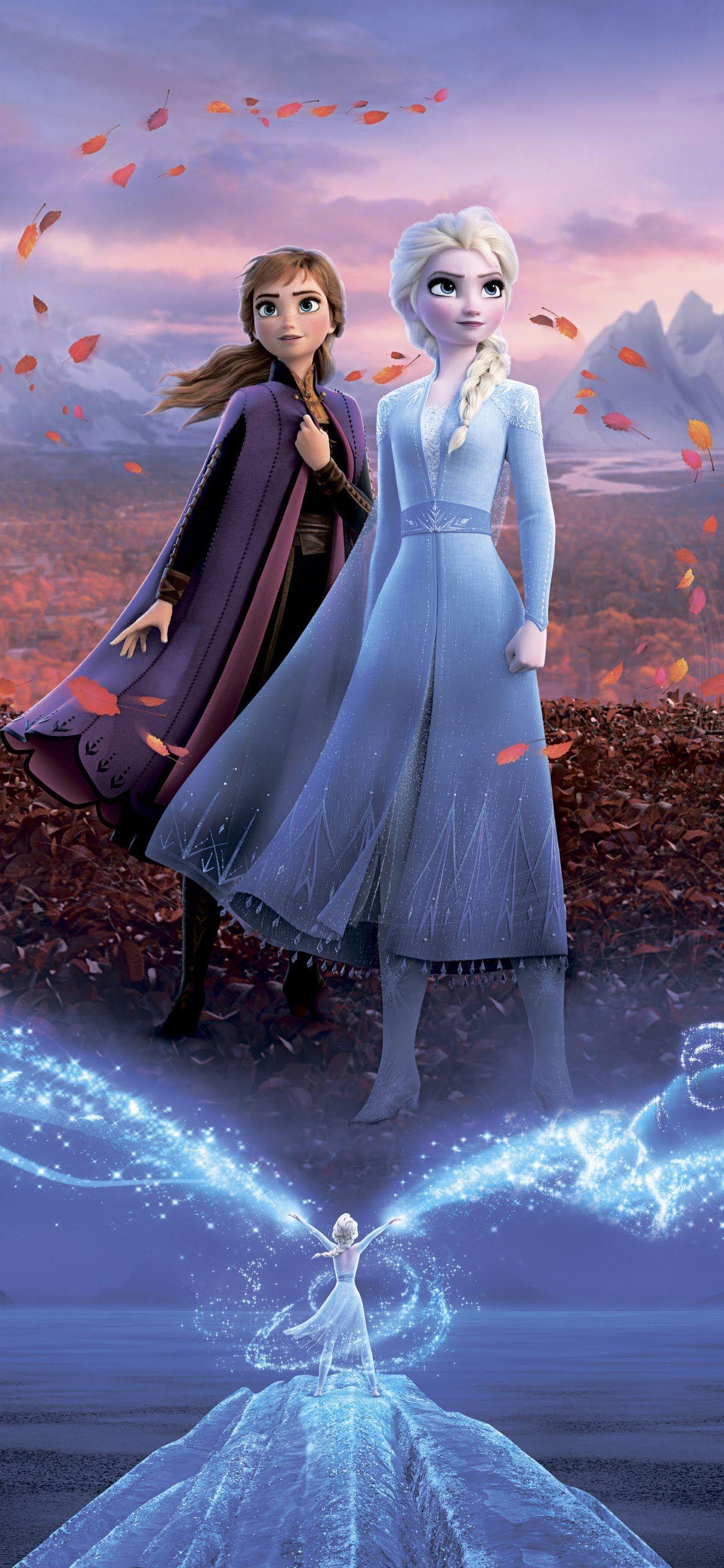 Frozen 2 Mobile Wallpaper Anna Elsa In 2020 Frozen Wallpaper Disney Princess Frozen Disney Princess Wallpaper