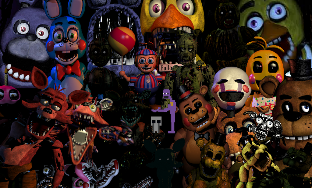 easy to draw fnaf 2 office with all animatronics | All FNAF