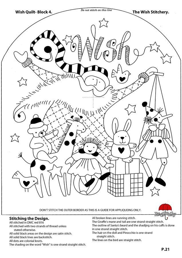 21.Wish Quilt- the Wish Stitchery | Red Brolley | Pinterest ...