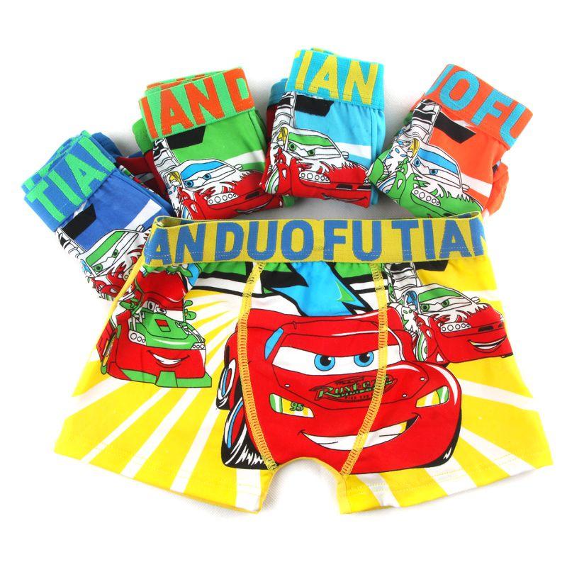 5 Unids/lote Algodón de Dibujos Animados Los Niños Ropa Interior de Verano Respirable Suave Del Bebé Del Boxeador de Los Niños Calzoncillos Escritos Chico 3-12 Y