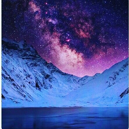 Starry Night In The Mountains Night Skies Beautiful Nature Landscape