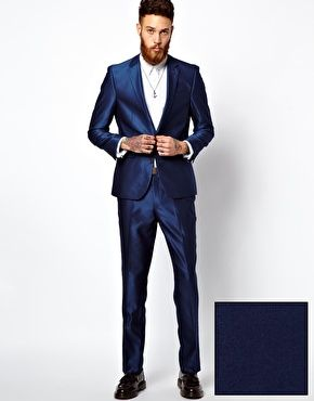 ASOS Slim Fit Suit in Bright Blue | T H E LOOK | Pinterest | ASOS