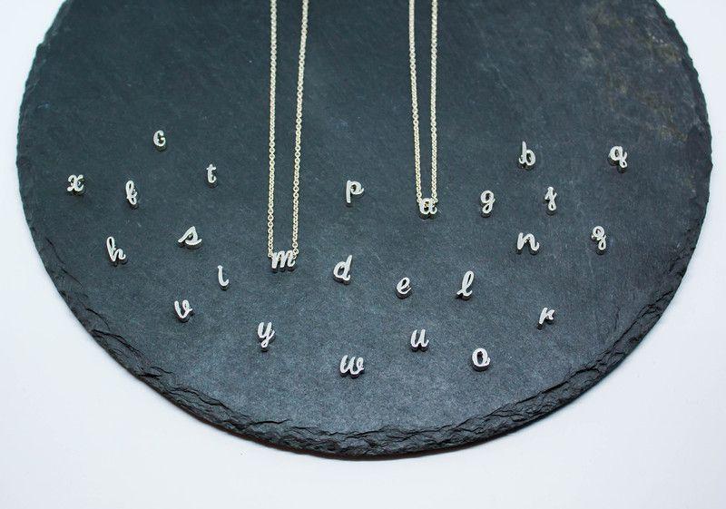 Gliederketten - Kette Buchstabe Initiale 925 Silber  - ein Designerstück von Catalea_M bei DaWanda