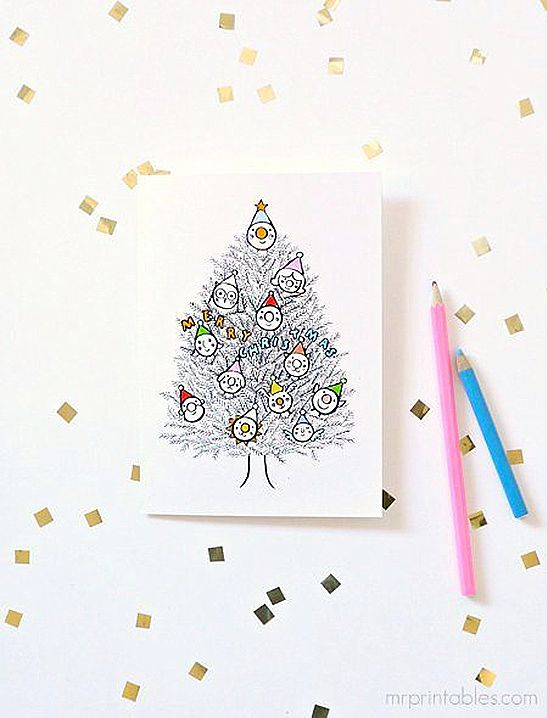 Christmas Cards To Color In | Christmas Activities & Games ...