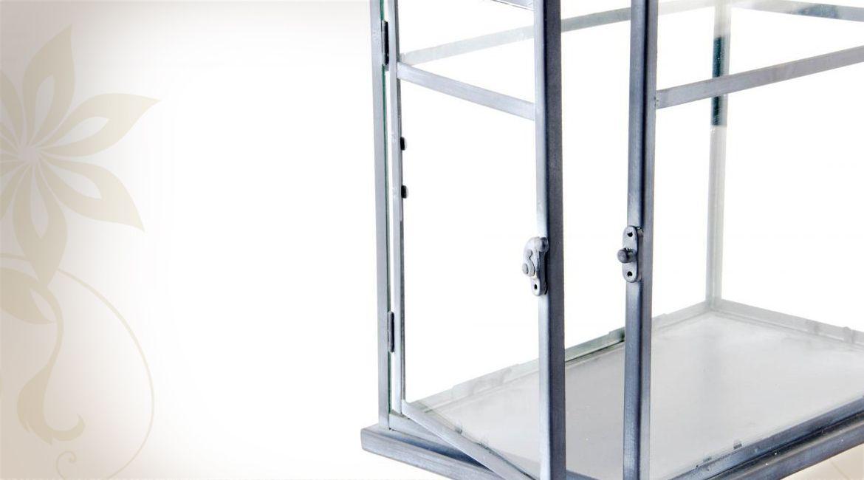 Mini-serre d\'intérieur en métal et en verre pour plantes   Jardin ...