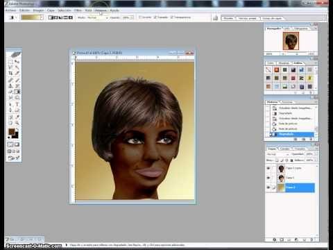Tutorial persona que pasa de blanca a negra con Photosop