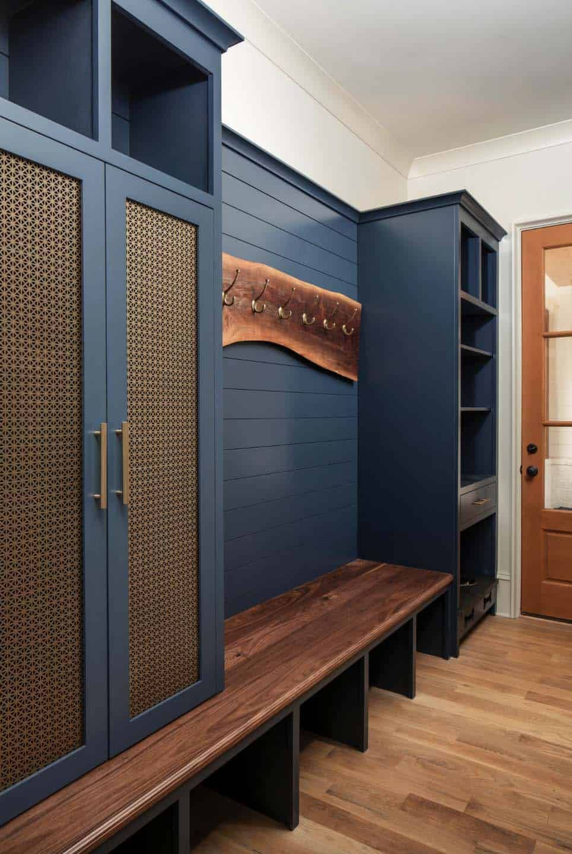 Triple Gable European Home With Delightful Details In North Carolina European House Mudroom Design Mudroom Cabinets