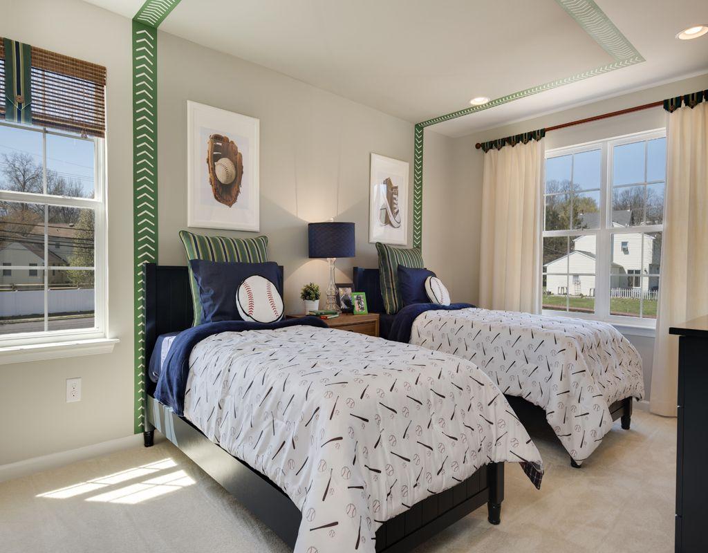 Tr traditional bedroom designs for couples - Gacek Design Group Bedroom Baseball Green Blue Gray Traditional