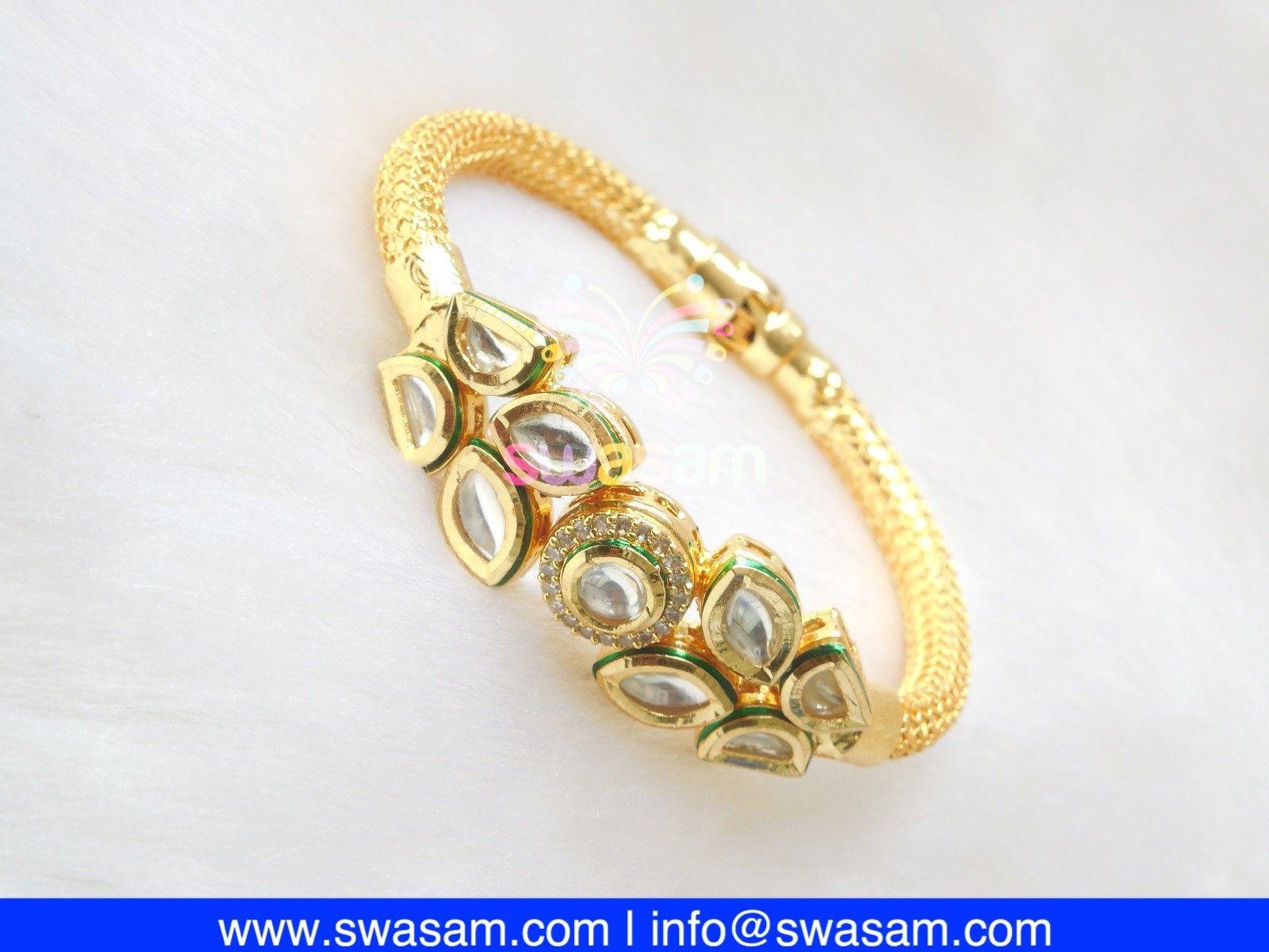 Indian jewelry store swasam kundan bracelets kundan