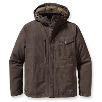 Patagonia Men's Wanaka Down Jacket :: For a gift that keeps on giving all winter long, try the sleek, urban look of the Wanaka Down Jacket.  Your guy will battle through whatever mother nature can throw at him with a combination of waterproof 2-layer polyester shell for durability, and ultra-insulative 600-fill premium goose down to stop bone-chilling temperatures.  The multifunctional collar design was inspired by vintage army jackets. $429