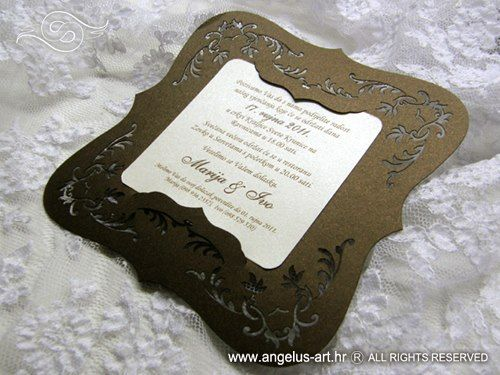 Exclusive brown wedding invitation wedding invitation exclusive brown wedding invitation stopboris Image collections