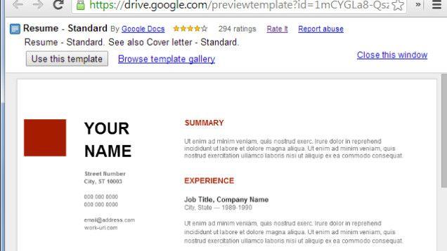 Use Google Docs\u0027 Resume Templates for a Free, Good-Looking Resume - google resume format