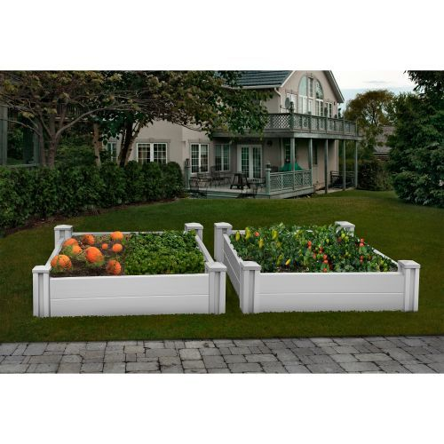 White Vinyl Raised Garden Bed 2 Pack Costco 189 99 With Images