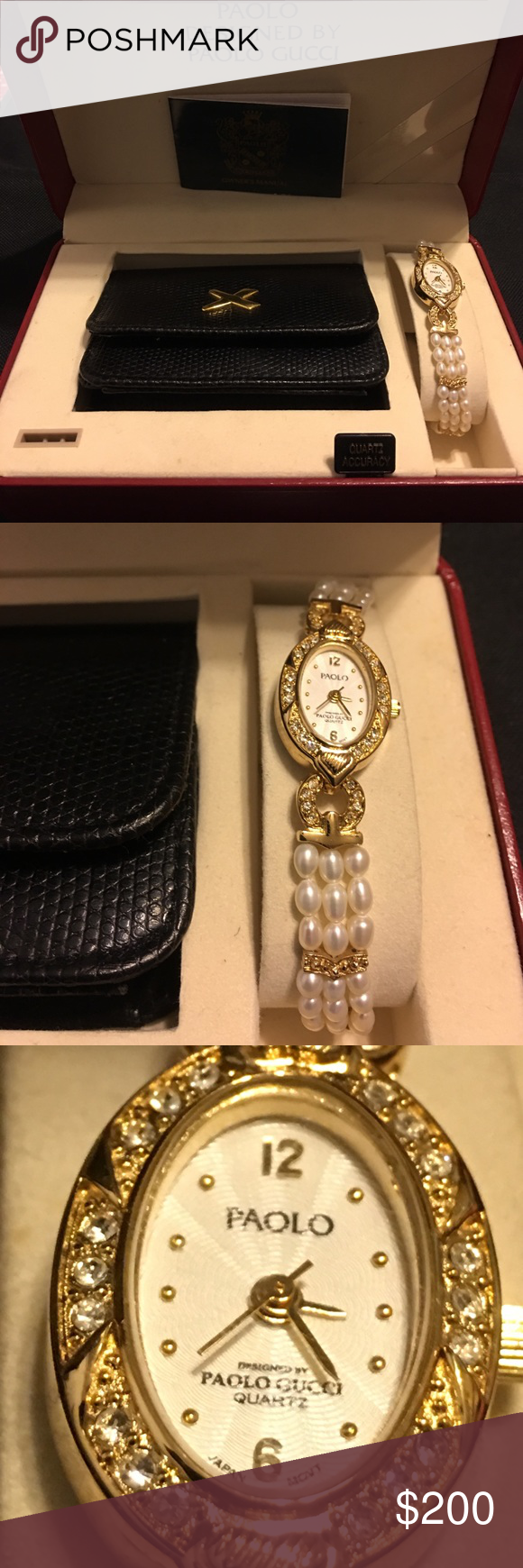 vintage authentic paola gucci pearl watch vintage paola designed by rh pinterest co uk i gucci digital watch manual I-Gucci Digital