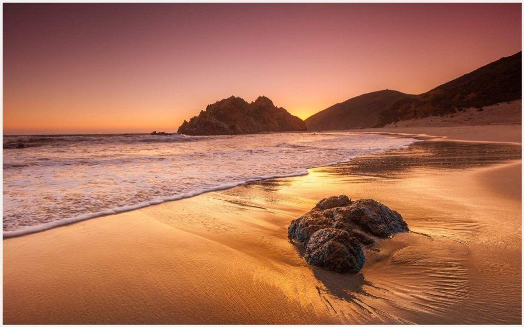 California Beach Sunrise Wallpaper
