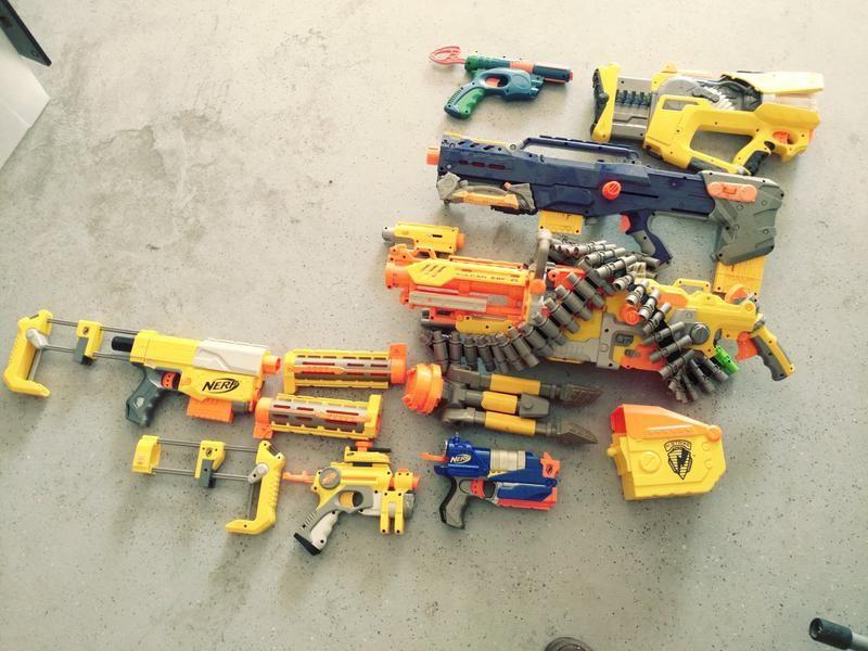 Lot of NERF guns