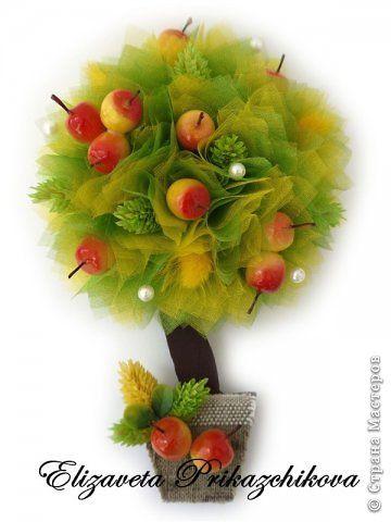 Яблочный топиарий своими руками. Мастер-класс 97