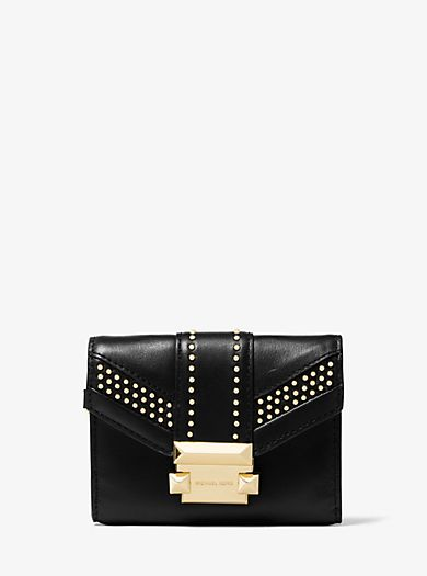 ed2bdd41683 Whitney Small Studded Leather Chain Wallet | Fall / Winter Black ...