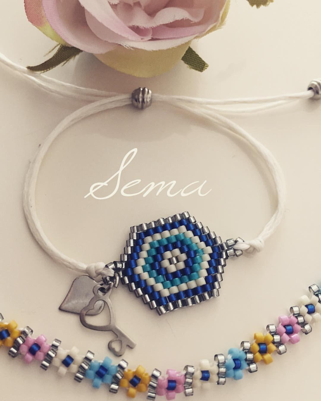 """43 Beğenme, 7 Yorum - Instagram'da Sema Ankın Oğuz (@semaankin): """"#bileklik #takı #miyuki #miyukidelica #miyukibeads #miyukibracelet #bracelet #beads #jewelry…"""""""